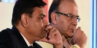 Finance Minister Arun Jaitley and RBI governor Urjit Patel
