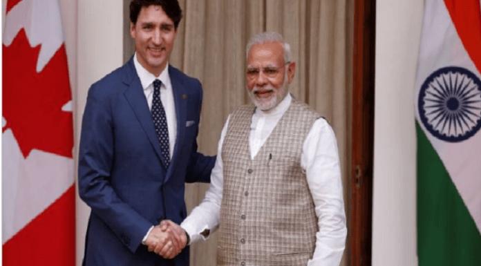 PM Trudeau with PM Modi.