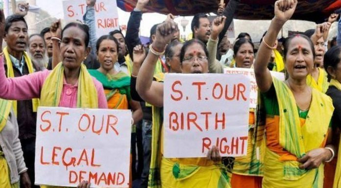 File photo of demand for ST status in Assam