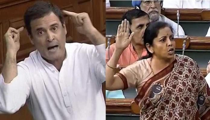 Rahul Gandhi, Nirmala Sitharaman