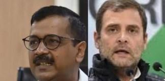 Arvind Kejriwal (L) Rahul Gandhi (R)