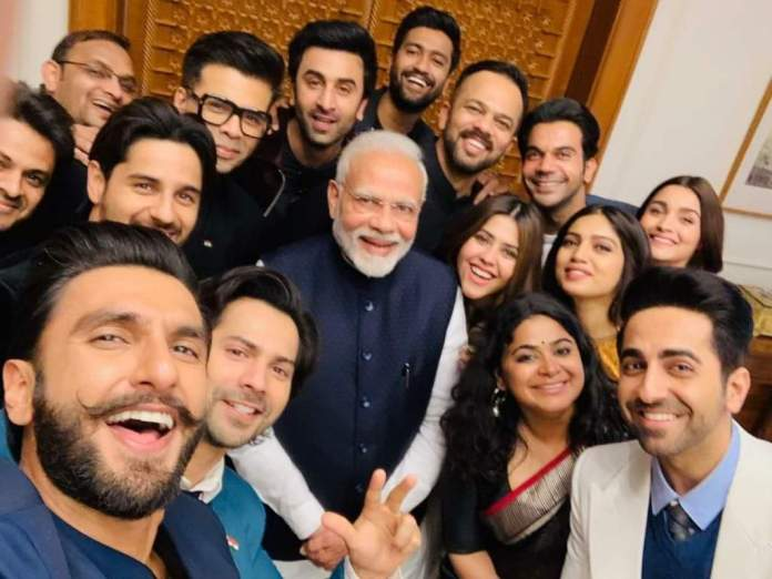 Modi pic with actors