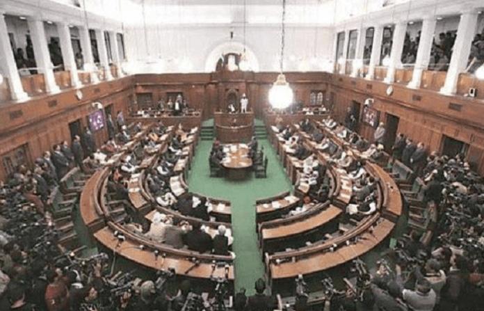 Delhi assembly marshals out three BJP MLAs