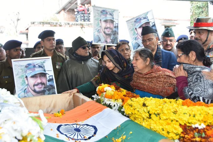Major Vibhuti Dhoundiyal was martyred with 3 other soldiers in Pulwama during an encounter
