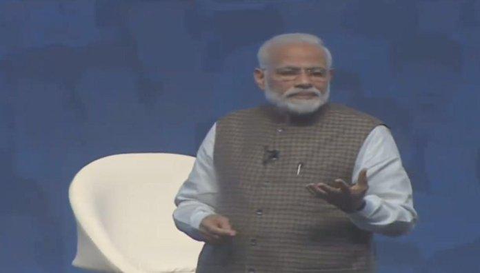 PM Modi addressed a mega Main Bhi Chowkidar event
