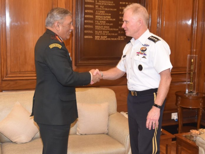 COAS Bipin Rawat met Commander of US Special Ops Command