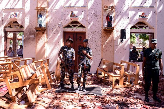 A Sri Lankan church escaped terror attack as it ended its Easter Sunday Mass early