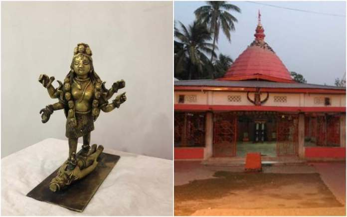 The Ashtadhatu idol of Goddess Ugratara was stolen from the temple on November 15. It has been recovered by the Golaghat police