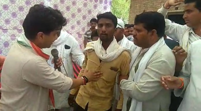 Farmer confronts Scindia over loan waiver