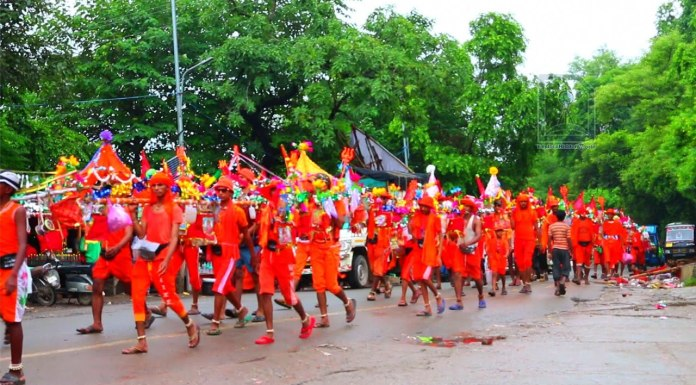 Millions of Hindus take part in the Kanwar Yatras each year
