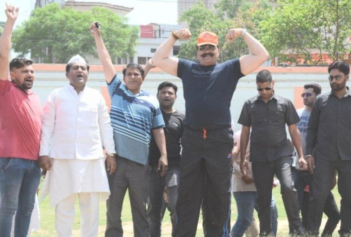 Viral video shows suspended BJP MLA Pranav Singh Champion dancing shirtless with guns in hand