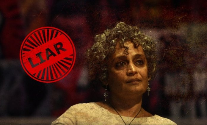Arundhati Roy's apology is a shameless reiteration of her lies, bias, propaganda and ignorance