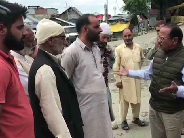 NSA Ajit Doval chats up with locals in Shopian