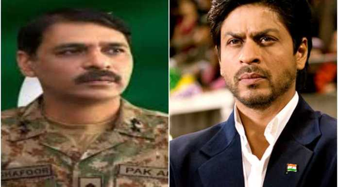 Pakistani Army's official spokesperson now begs attention from Shah Rukh Khan