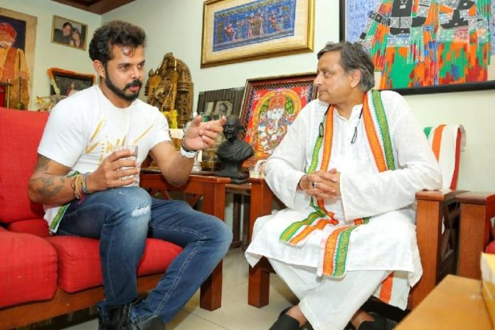 S Sreesanth plans to fight 2024 Lok Sabha election against the sitting MP Shashi Tharoor