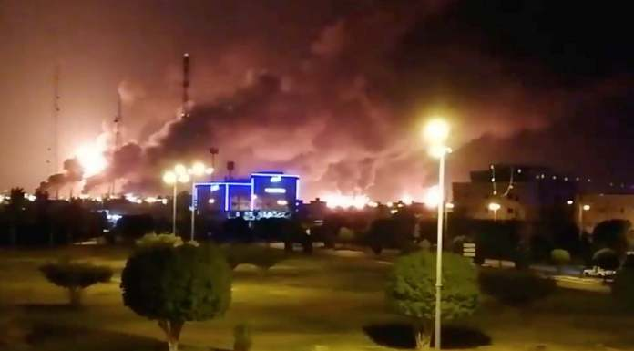 Houthis, the Islamic religious-political-armed movement of Yeman claims responsibility for attack on Saudi oil facility