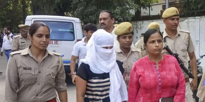 UP law student who had accused Chinmayananad of rape has been arrested under extortion charges by SIT