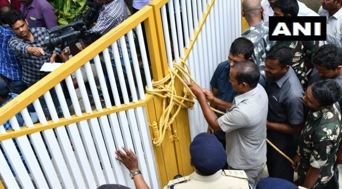 main gates of Naidu's residence locked after he tries to defy house arrest