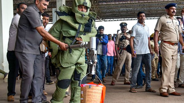 Hubli railway station blast bucket bomb