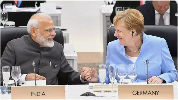 German Chancellor Angela Merkel is to arrive in India later today for a biannual summit