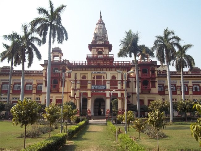 The students of BHU's South Campus in Barkachha, Mirzapur protested against removal of the RSS' saffron flag during their morning Shakha