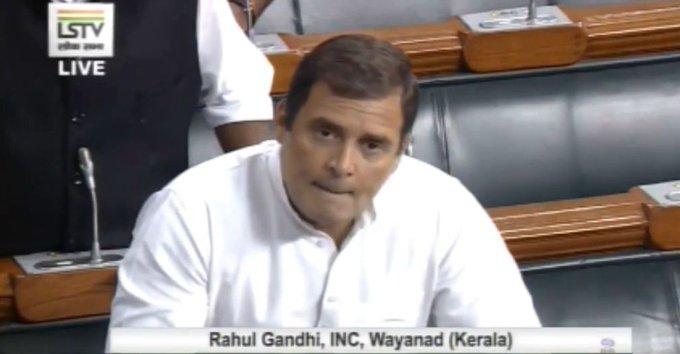 Rahul Gandhi in Lok Sabha