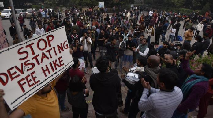 JNU says it is facing a deficit of Rs 45 crores and since UGC rules prevent payment to contractual staff from salary budget, the feel hike is necessary