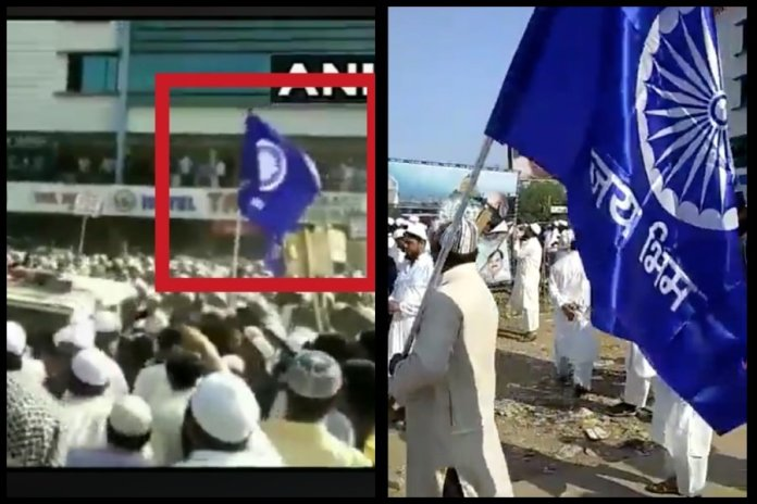 Anti-CAA riots: Muslim mob led by Jignesh Mevani in Gujarat that attacked a police van carried 'Jai Bheem' flags