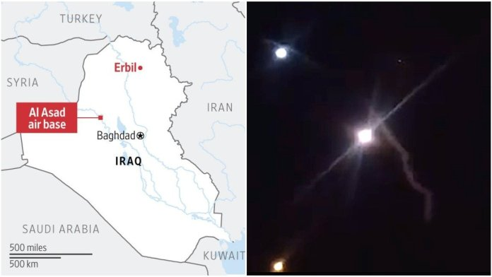 Iran fires ballistic missiles at US military bases in Iraq