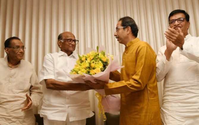 Uddhav Thackeray grants a 51-hectare land worth Rs 10 crore at nominal rate to Sharad Pawar led Trust