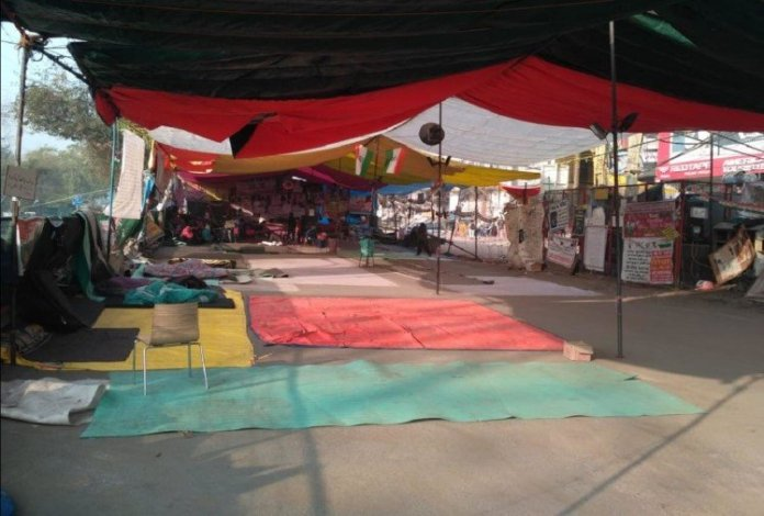 Shaheen Bagh protest site empty on the Delhi elections results