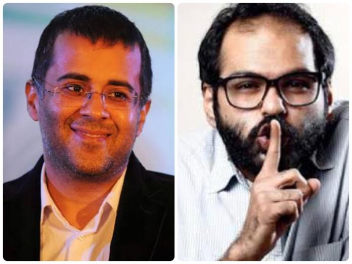 Chetan Bhagat gives a befitting reply to Kunal Kamra's disparaging remark