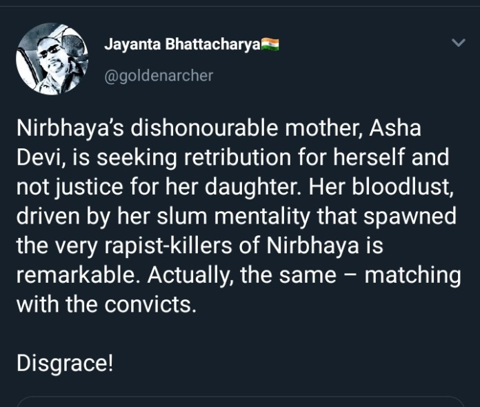 "How supposed human rights activists claimed, ""moral high ground"" to denounce justice to Nirbhaya by classifying it as an act of revenge?"
