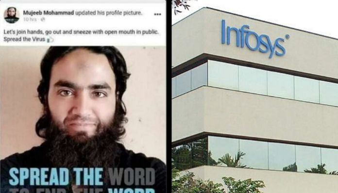Infosys employee Mujeeb advocates spreading Coronavirus, gets arrested