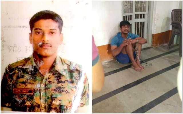 CRPF commando beaten, humiliated and chained by police in Belgavi