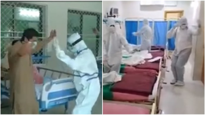 Pakistani doctors seen dancing inside hospital to cheer up patients