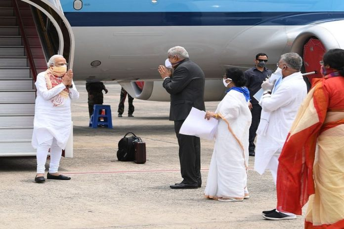 PM Modi conducts aerial survey of cyclone-hit areas of Bengal, announces 1000 crores package