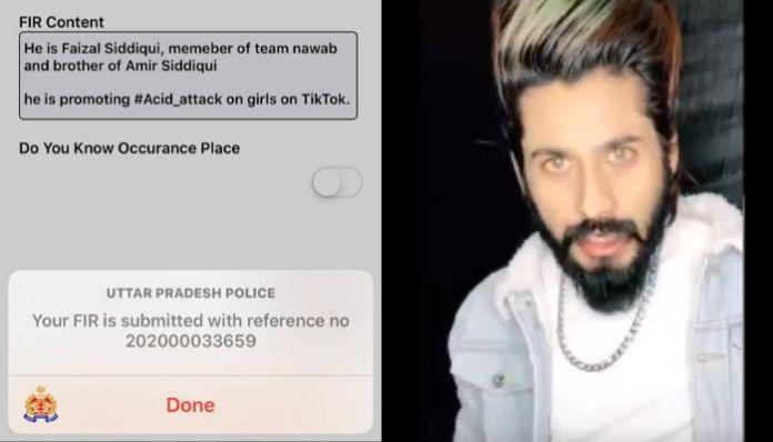 FIR against TikTok star Faisal Siddiqui for promoting acid attacks on women
