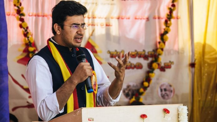 Union Govt sought the removal of tweet made by Tejasvi Surya