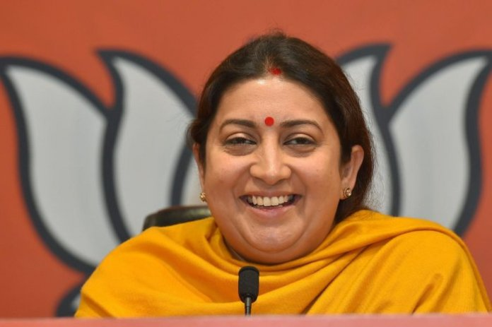 Union Minsiter of Textiles Smriti Irani slammed Rahul Gandhi for having duplicitous stance