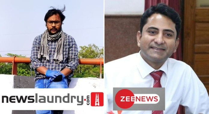 Newslaundry pressurises Zee News journalist affected with coronavirus to do a hitjob on channel's Editor-in-Chief Sudhir Chaudhary