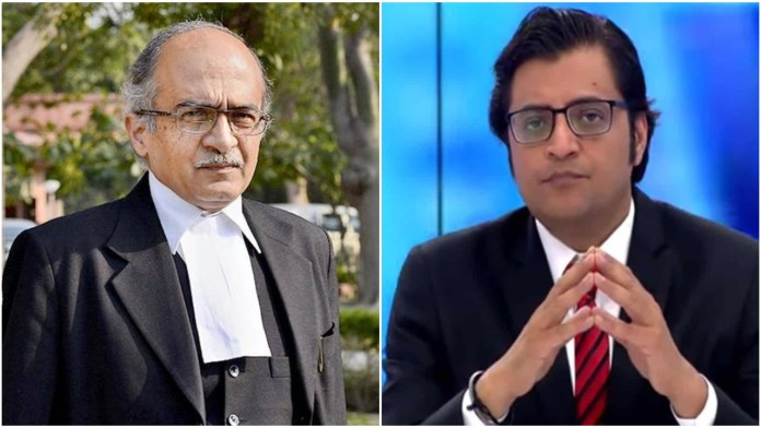 Prashant Bhushan questions the quick hearing for Arnab Goswami's case in SC while enjoying the same privilege himself