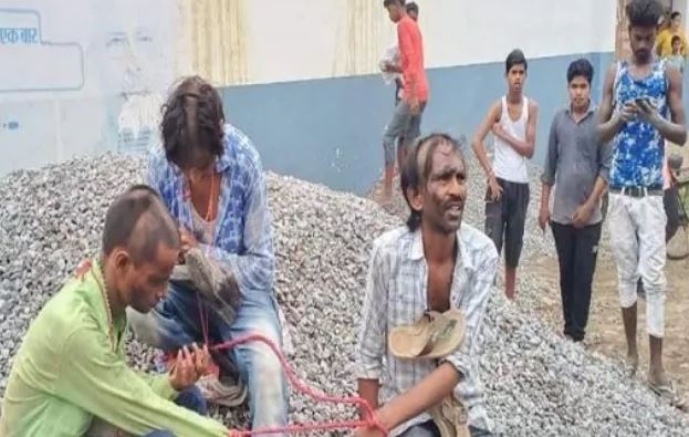 Thieves caught red-handed, beaten and paraded by villagers in UP. Police dismiss caste-atrocity angle