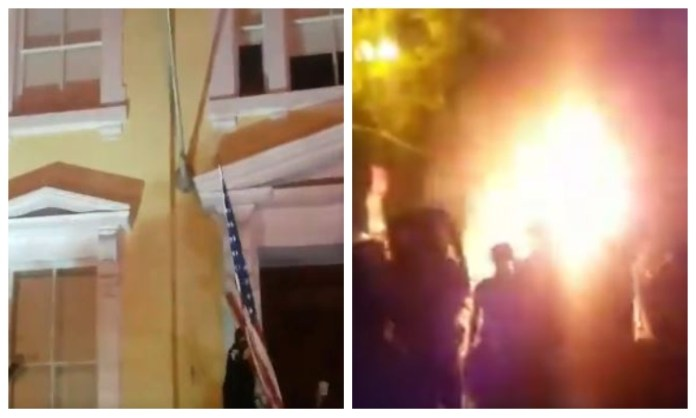 200-year-old historic St John's church near White House has been vandalised and set on fire by Antifa rioters
