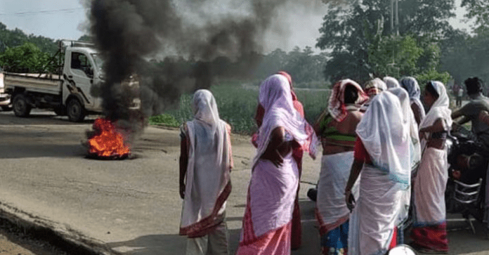 Protests in Assam's Lezai area after 20-year-old Saurav Das's murder