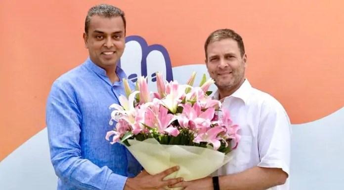 Milind Deora and Rahul Gandhi