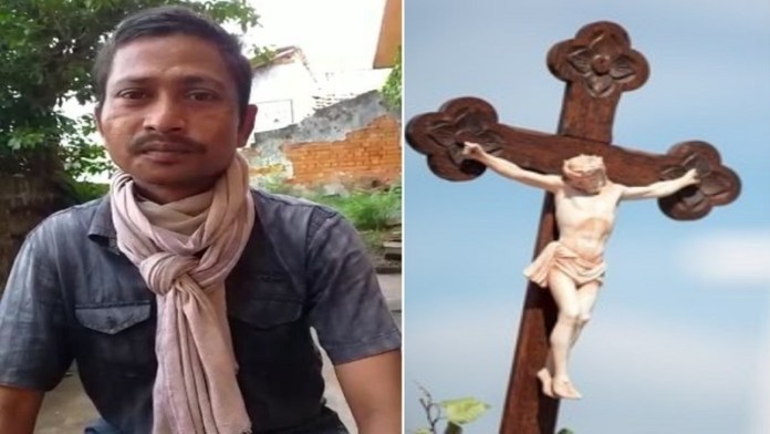 Tribal man Ramesh is seen stating in a video that the Christian priest and some of his associates had brought cow meat into their house and had insisted that they cook it and eat