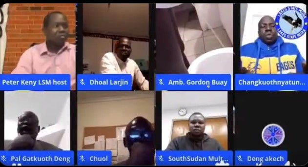 Gordon Buay was seen urinating during a live online panel discussion