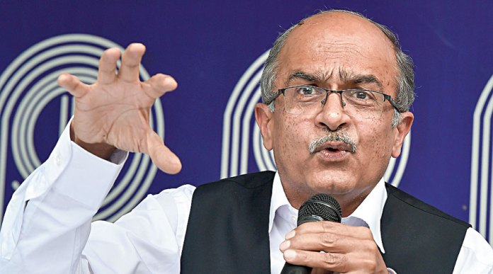 Lawyers appeal to SC to turn down conviction of Prashant Bhushan