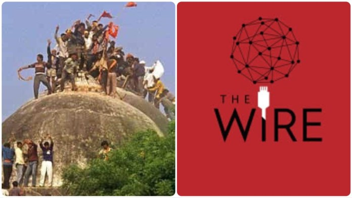 The wire cites discredited experts to claim older mosques existed beneath Babri structure